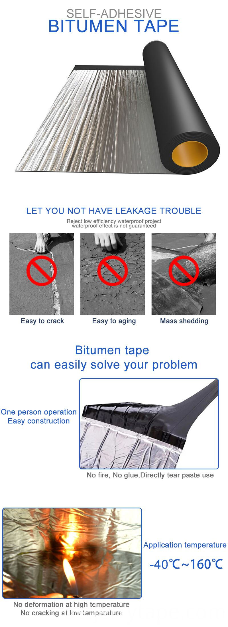 Bitumen Waterproofing Membrane Tape