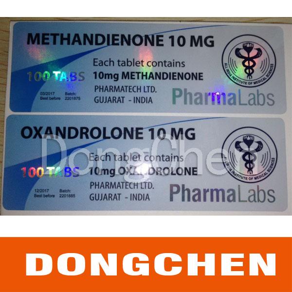 Free Design Permanent Adhesive 10ml Pharmaceutical Vial Label