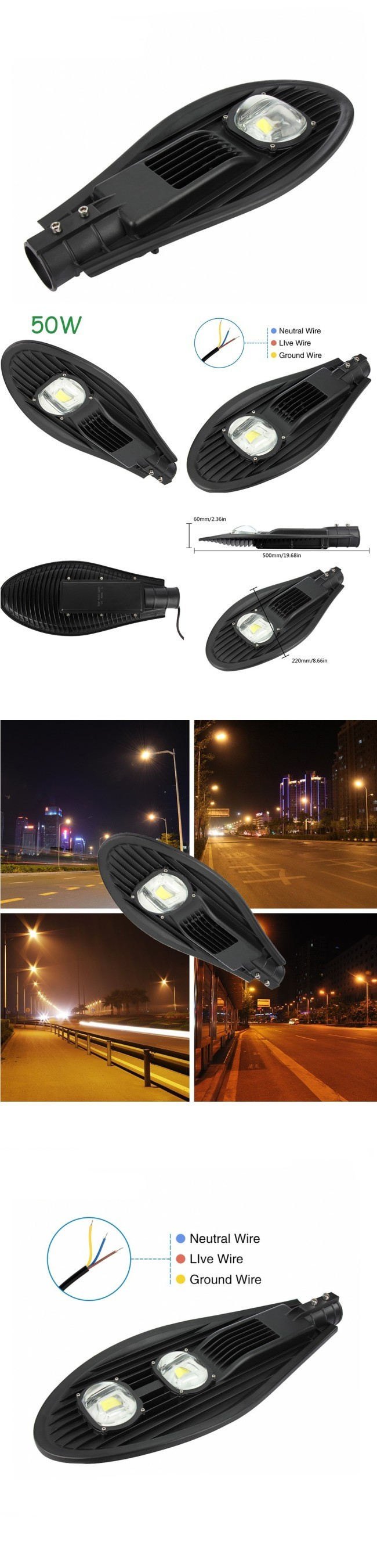 2017 New High Power 200W LED Street Light 20000lm 10kv Surge Protection