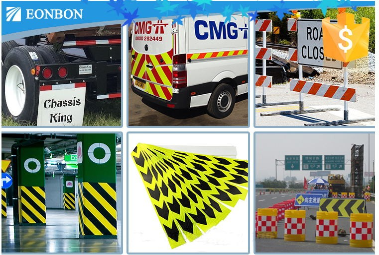 Reflective sheeting film for traffic road sign