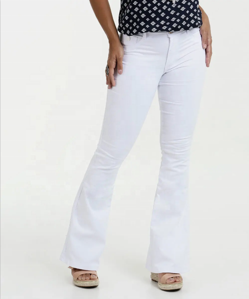 Low Waist Flare Casual Pants