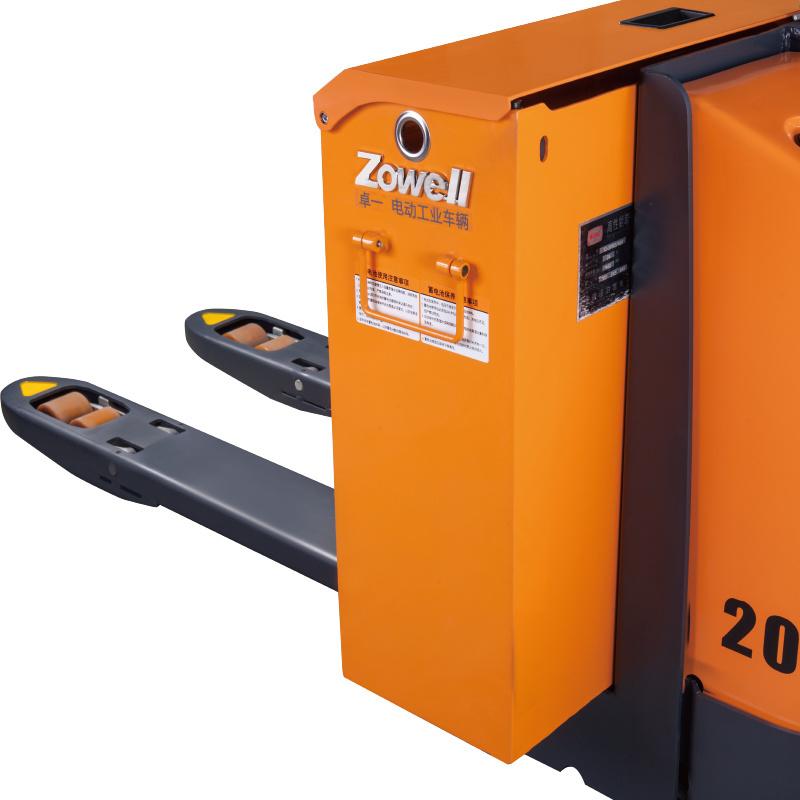 Caminhão de paletes elétrico de 2 toneladas Zowell CE para serviço pesado pode ser personalizado