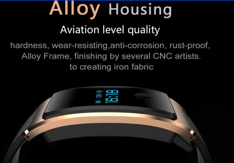 Smart Wrist Watch Waterproof Built -in USB Wechat Interconnection Heart Rate Monitor The Bluetooth Sleep Monitoring Super - Long Standy