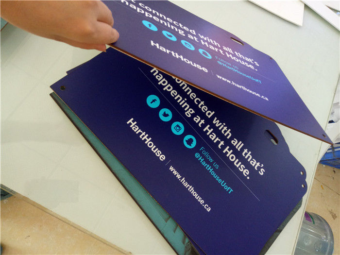 Die Cut Sintra Pvc Foam Core Signs And Display Double Sided Printing
