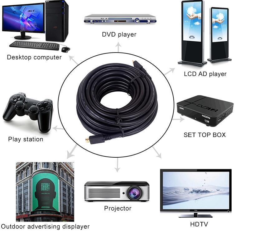2.0V 4K HDMI Male to HDMI Male 케이블 (이더넷 포함)