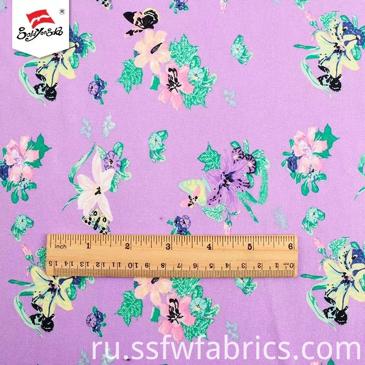 Elegant Printed Polyester Fabric