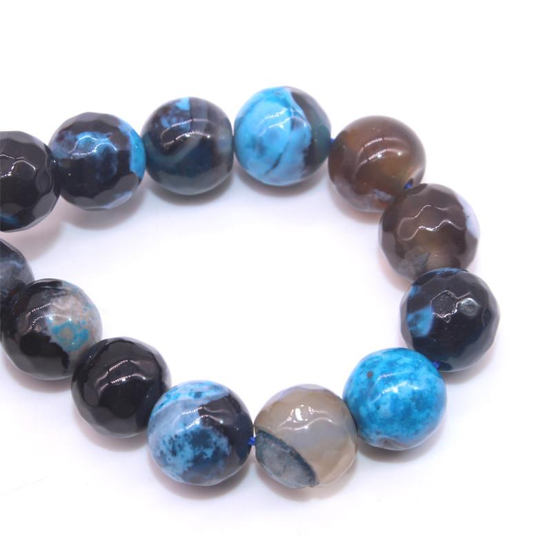 Wholesale Gemsotne Strands Size 6 8 10 12mm Mixed Blue Natural Blue Agate Slabs