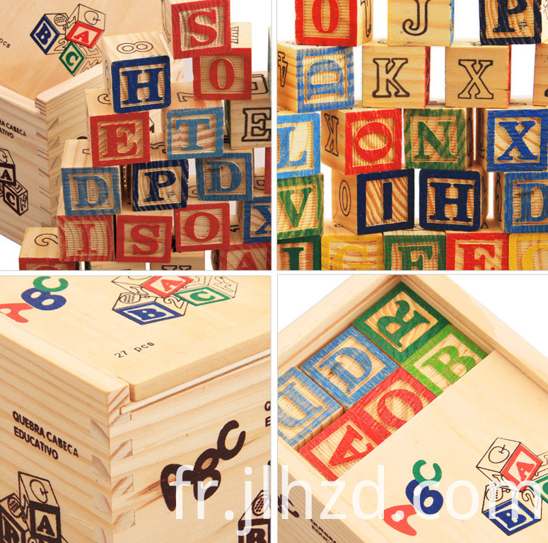 Carved 26 Alphabet Wooden Puzzle Toys
