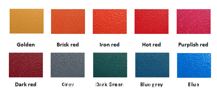 color of Spanish roofing sheet