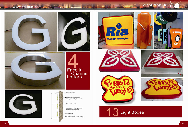 Outdoor Waterproof Advertising LED Channnel Letter Metal Letters