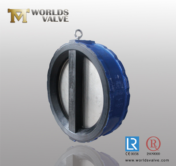 Fully Rubber Lining Butterfly Dual Plate Check Valve with Ce ISO Approved