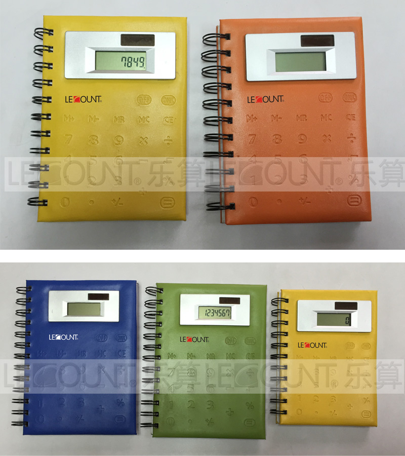 Large Size 8 Digits Notebook Calculator with PVC Front Cover (LC563A)