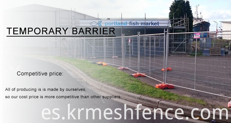 PVC coated canada metal construction temporary fence