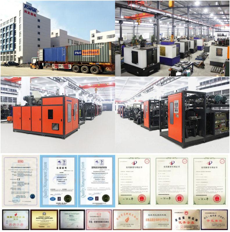 Tonva for Plastic Products 1 Liter Blow Molding Machine Price