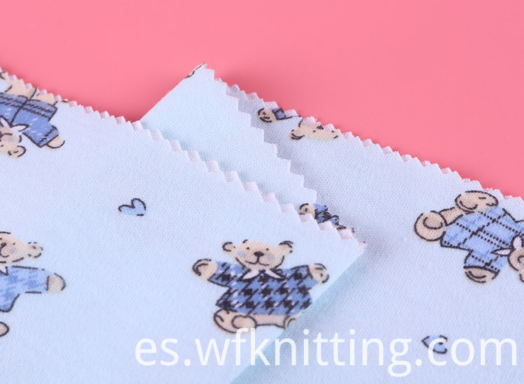 Cute Bear Digital Printed Fabric