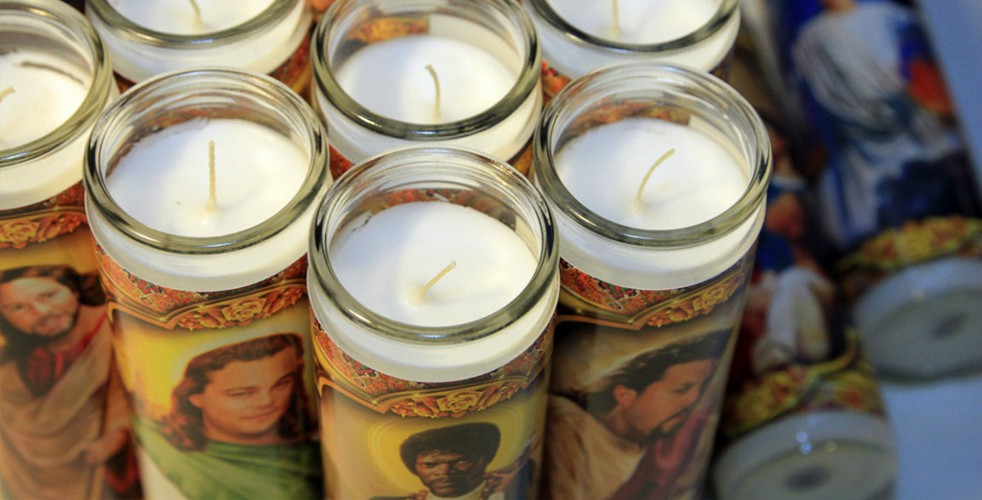 Glass Memorial Candle