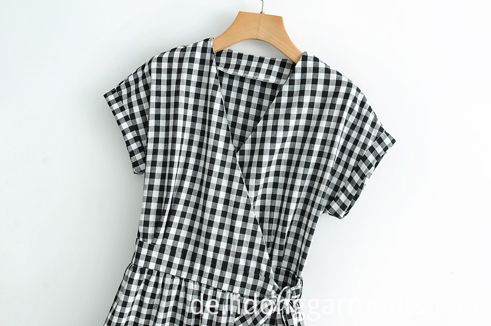 Black White Plaid Dress