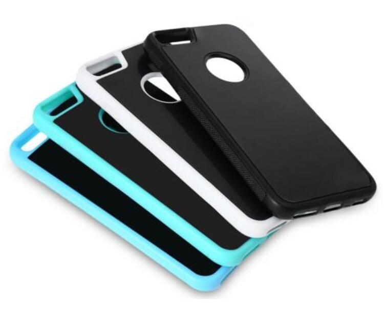 Self Sticky Case, Anti-Gravity Nano-Suction Technology Hands-Free Selfie Shockproof Case for Apple iPhone 7/6 Plus/6s