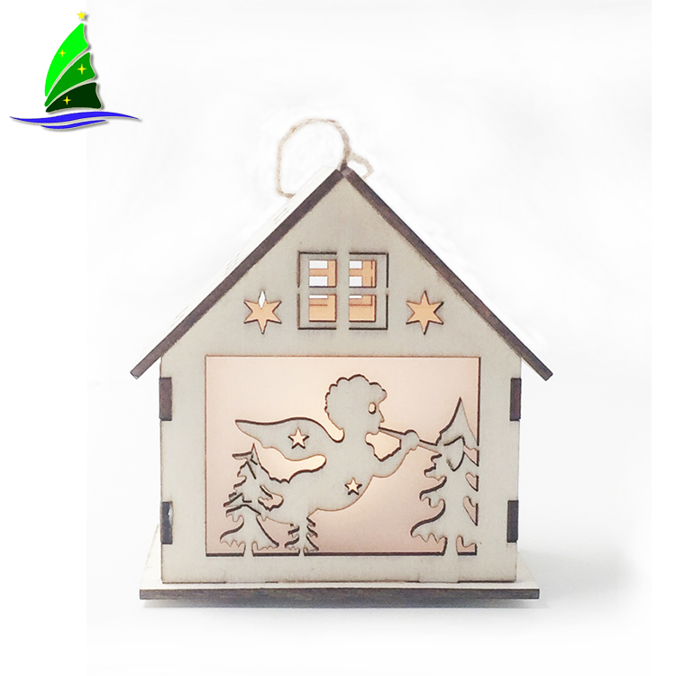 Wooden Glowing House Decoration