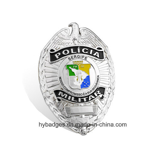 Uneven Square Gold Badge, Engraved Lapel Pin (GZHY-BADGE-004)