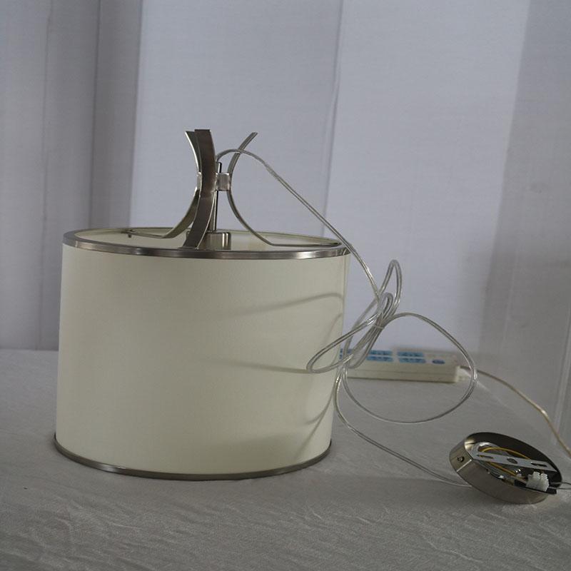 Fashion White Round Metal Polygonal Dining Room Pendant Lamp