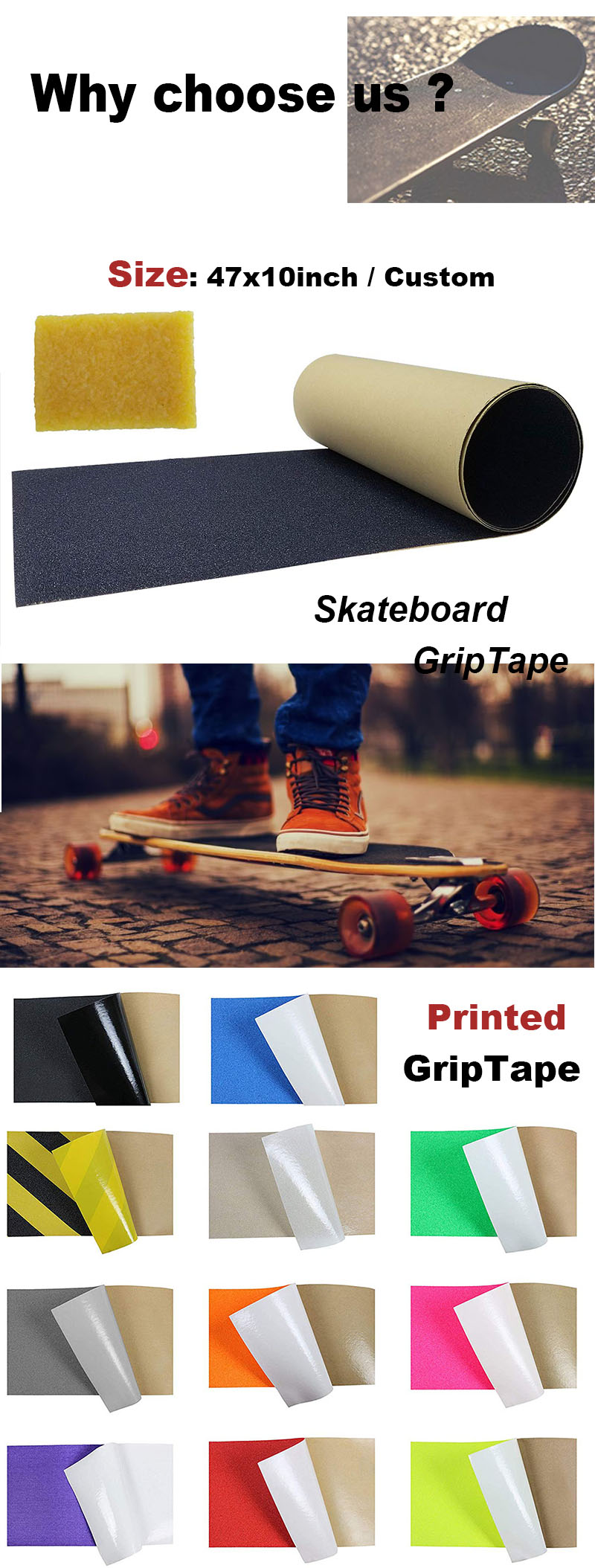 Wholesale Waterproof griptape for skateboard