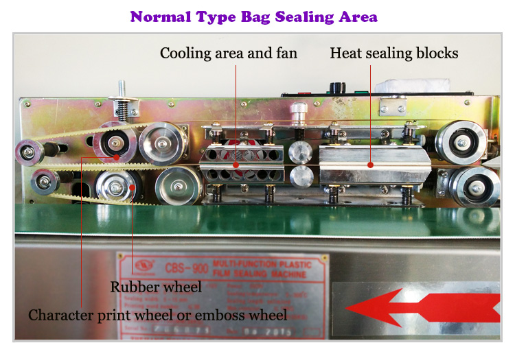 Continuous Nitrogen Band Sealer for Fruit with Printing and Coining