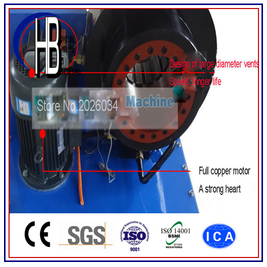 Ce Best Quality 1/4''~2'' Finn Power Hydraulic Hose Crimping Machine for Sale