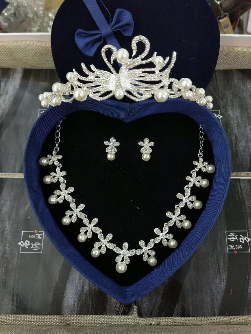 Bridal Wedding Accessories Crown Earring Necklace