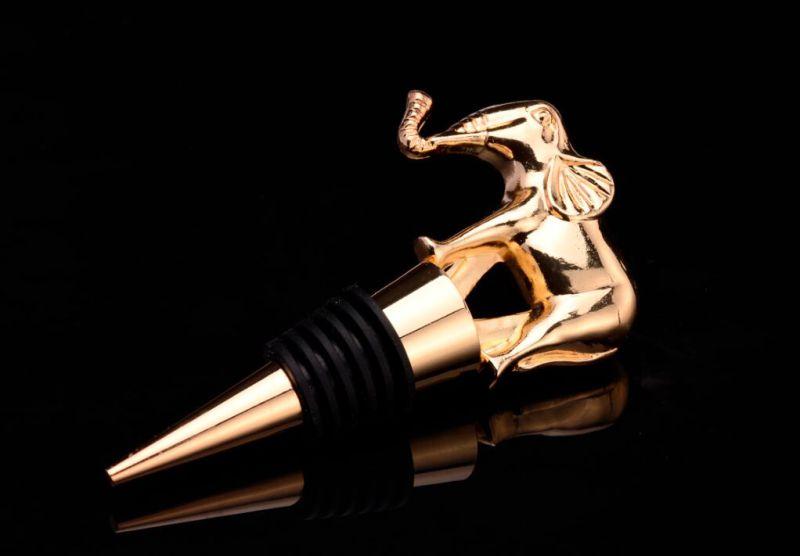 Custom Metal Antique Gold Wine Bottle Stopper (GZHY-BS-008)