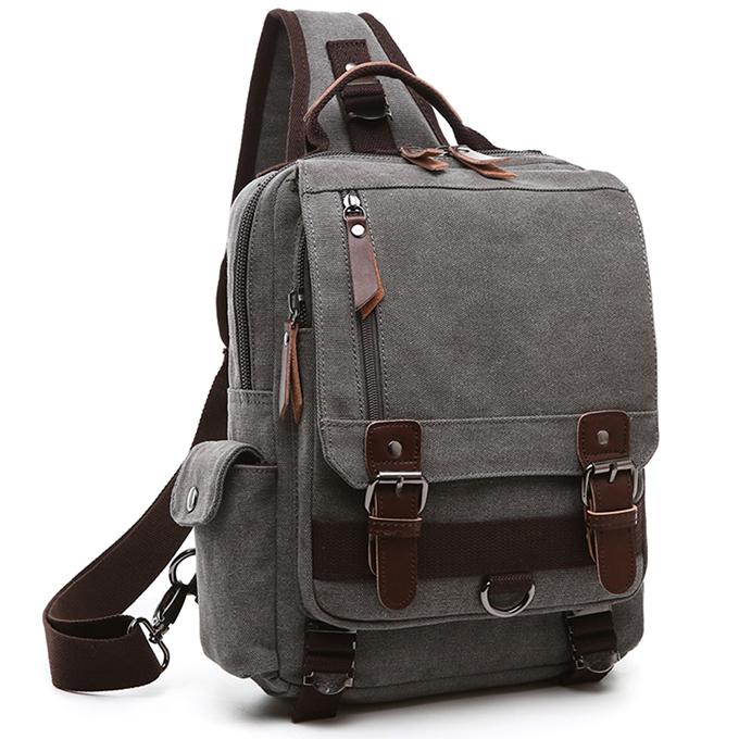 Messenger Laptop Sling Canvas Backpack