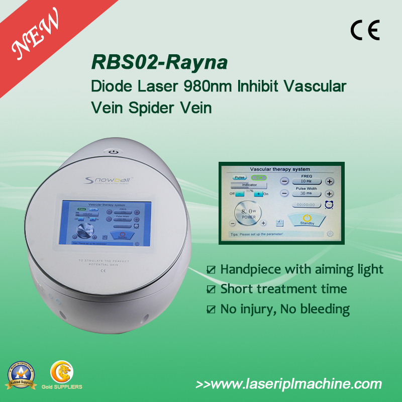 Rbs02 Permanent 980nm Diode Laser Vascular Removal Machine