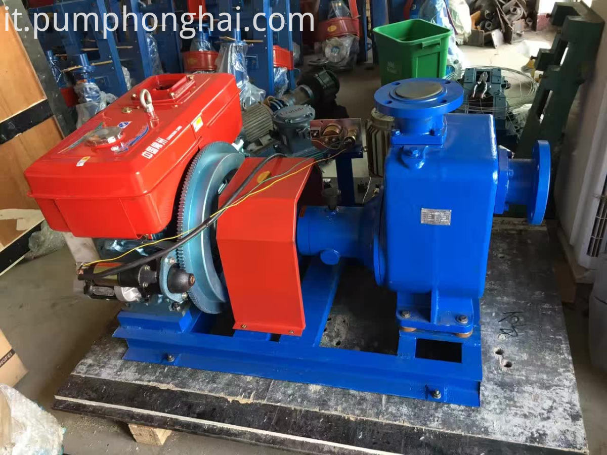CYZ centrifugal pumps driven by diesel engine