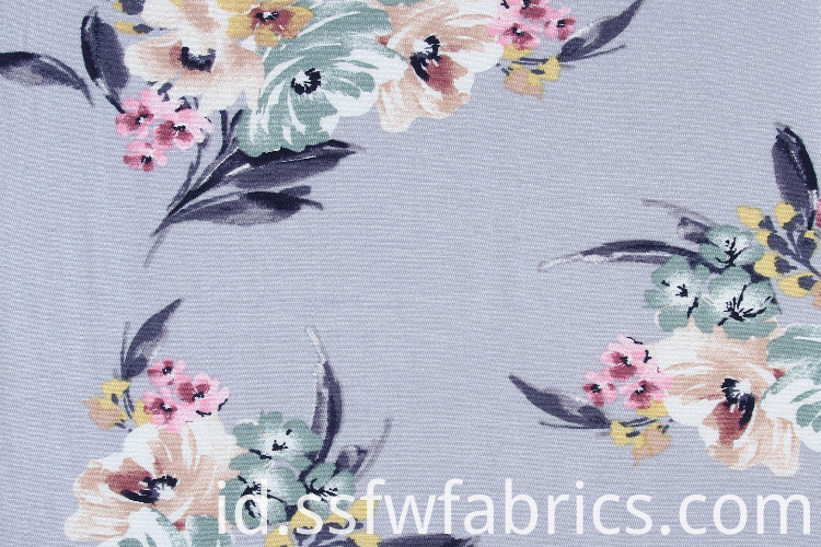 Elegant Rayon Grey Fabric