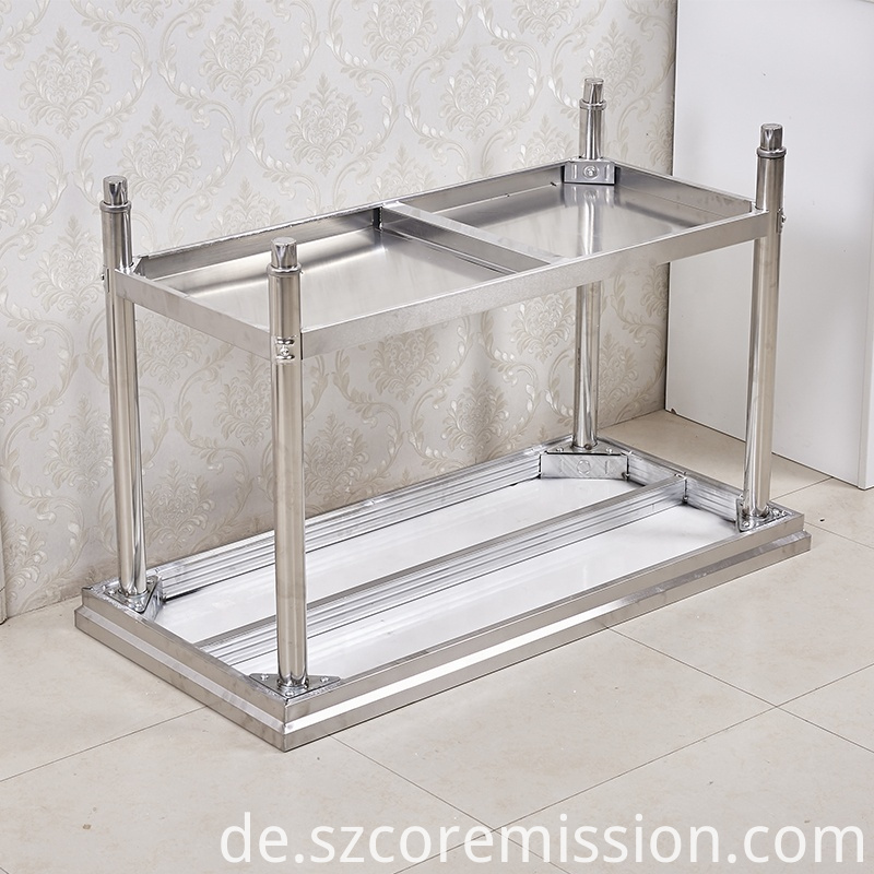 Commercial Height Adjustable Stainless Steel Work Table