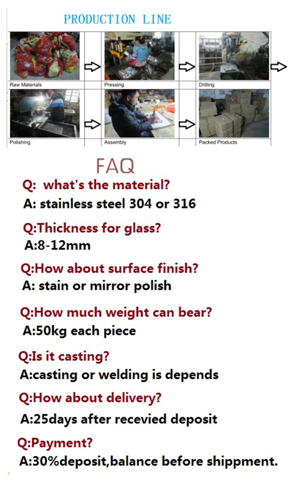 Stainless Steel Advertisement Nails Glass Wall Connector Standoff