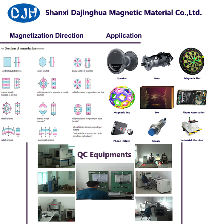 Small Size Sintered NdFeB Arc Magnet for DC AC Motor