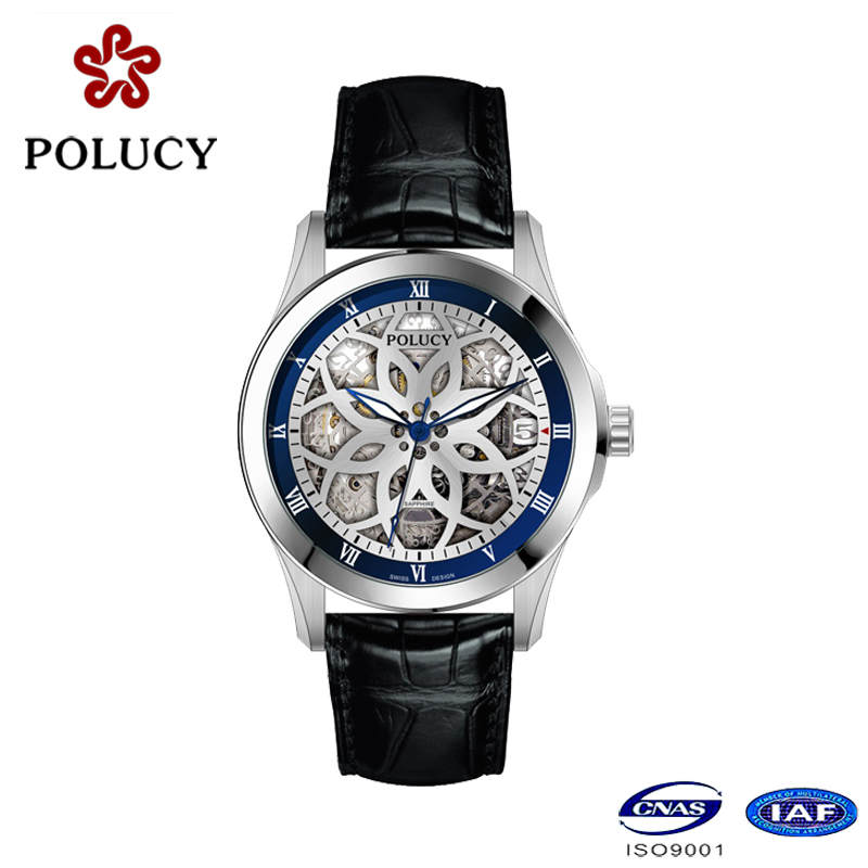 Shenzhen Factory OEM Automatic Skeleton Watch for Men
