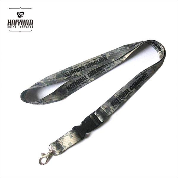 Custom High Quality Military Camouflage Sublimation/Woven Lanyard