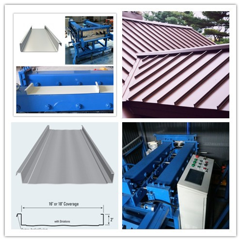 Portable Click Lock Standing Seam Metal Roofing Roll Former for Sale