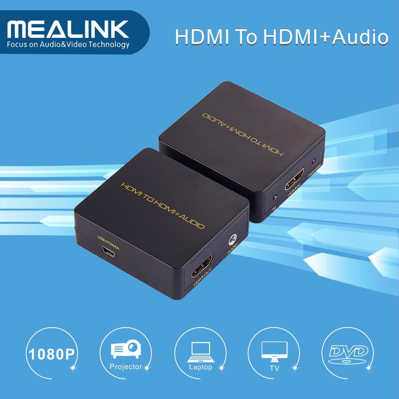 HDMI to HDMI+Audio Converter Adapter