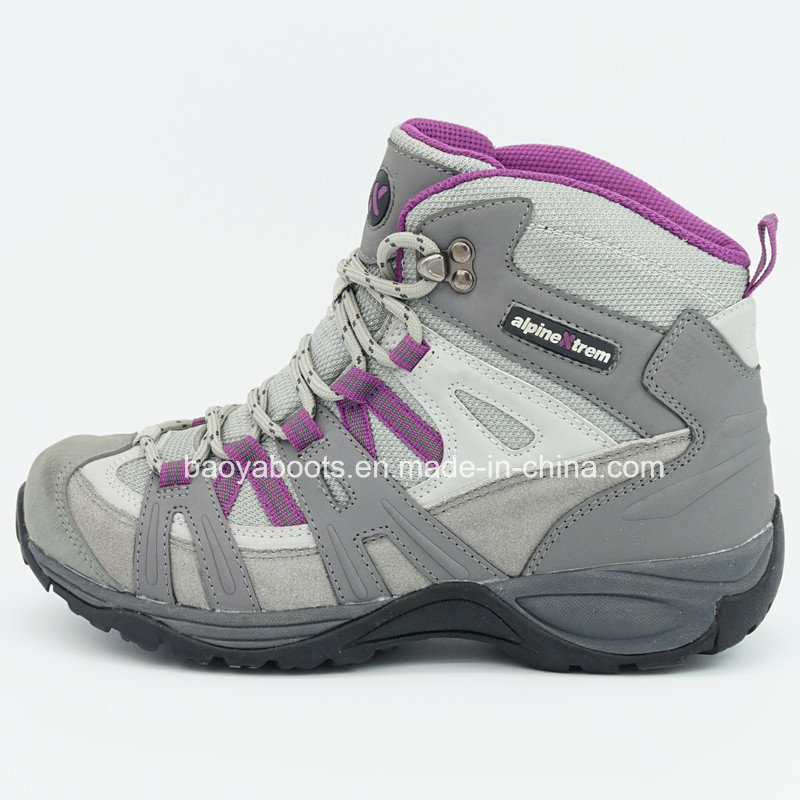 Genuine Leather Hiking Shoes with Waterproof for Women