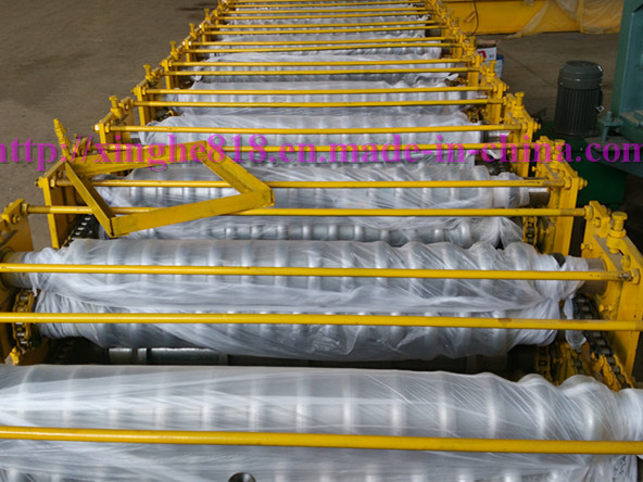 Corrugation Tile Roofing Sheet Double Layer Rolll Forming Machine