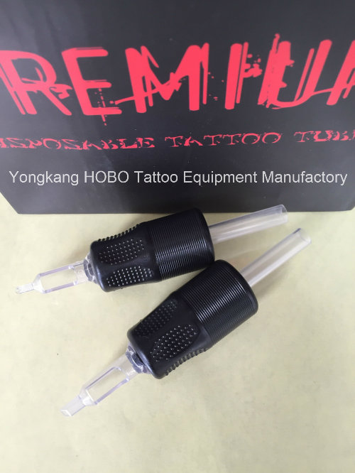 25mm Body Art Products Black Plastic Disposable Tattoo Grips Supplies