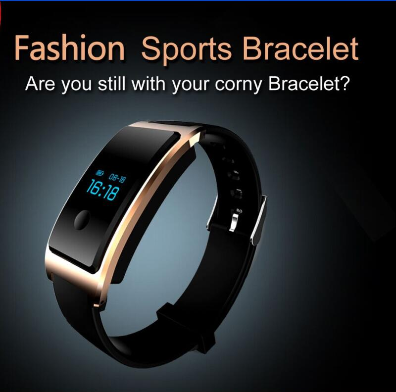 Waterproof Built-in USB Wechat Interconnection Heatrate Monitor The Bluetooth Sleep Monitoring Super-Long Standby Smart Wrist Watch