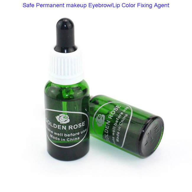 Safe Permanent Makeup Eyebrow & Lip Fixing Agent for Professional Use