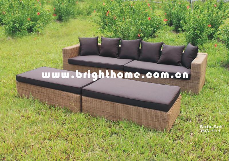Aluminum Frame Outdoor Sofa Set Bg-111