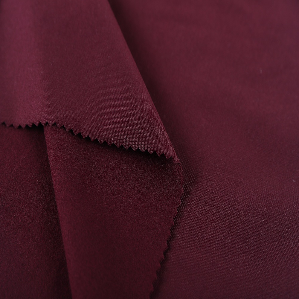 double brushed polyester fabric