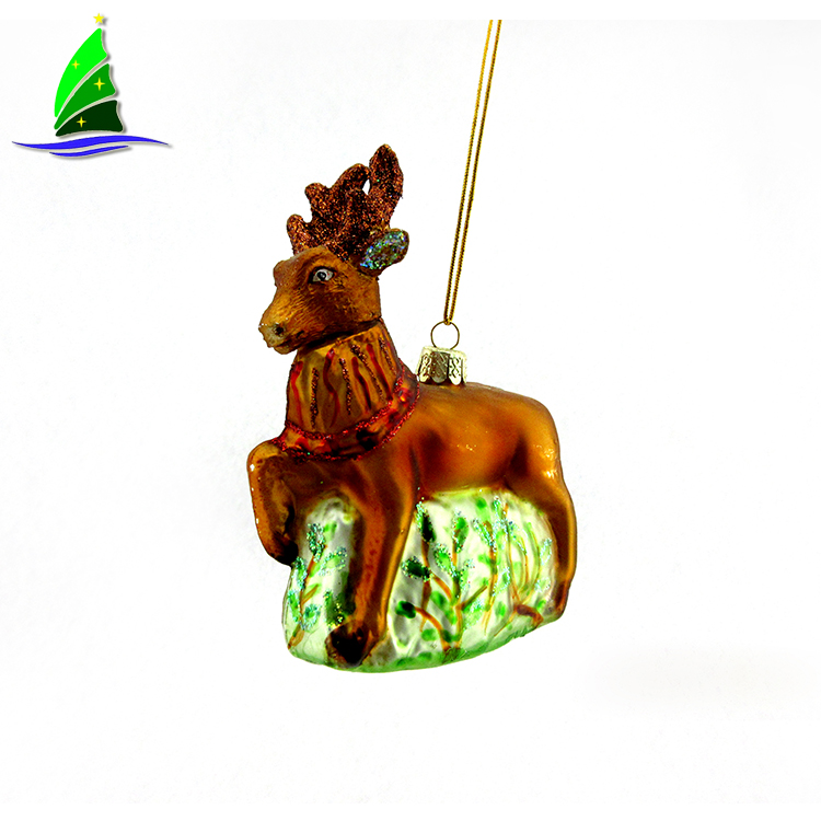 glass deer ornament