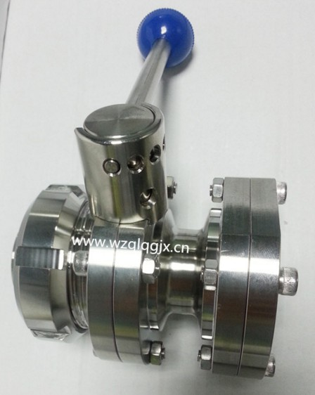Sanitary Stainless Steel Threaded and Flange Manual Butterfly Valve